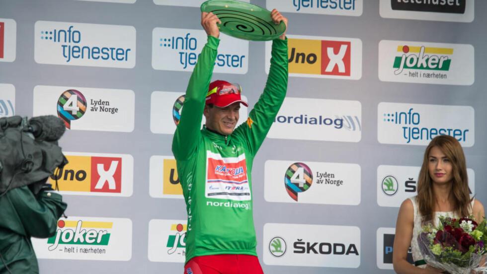 VANT TO ETAPPER I FJOR: Løypesjefen i Tour of Norway lover nye muligheter for sprintere a la Alexander Kristoff, men også en tøffere løype i neste års Tour of Norway. Foto: Audun Braastad / NTB scanpix