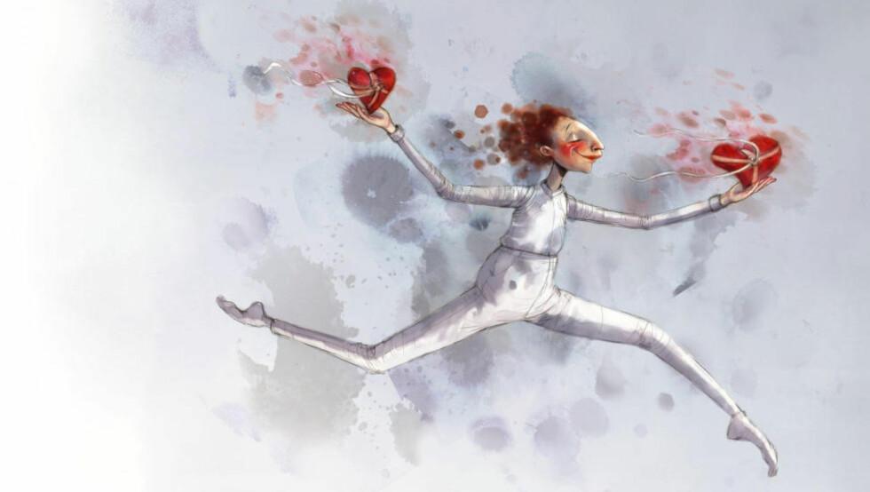 TA MINDRE - GI MER: Desember står for døra. Da kan du trene deg på å ta imot, og oppdage gleden ved å gi. Illustrasjon: Lisa Aisato.