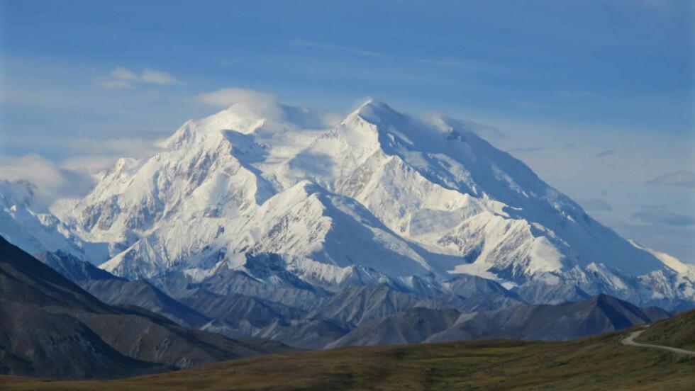 MAJESTETISK: den høyeste toppen i USA. Men hva heter den, og hvor høy er den? Foto: NTB Scanpix