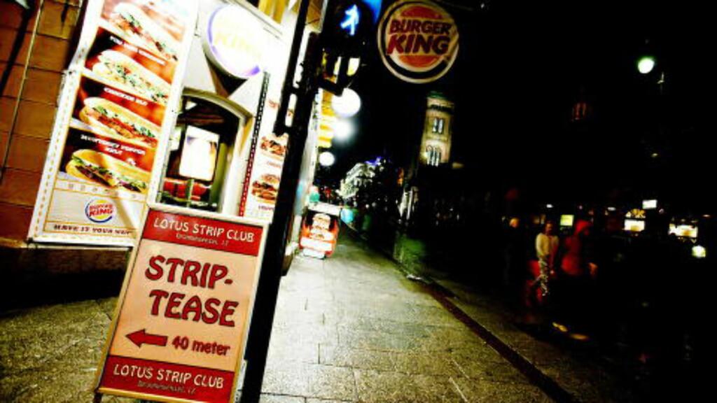 - VOLDTATT PÅ BURGER KING: Kvinnen skal ha blitt voldtatt av 37-åringen inne på toalettet på Burger King i Karl Johans gate i 2004, ifølge tiltalten. Foto: Linda Næsfeldt / Dagbladet