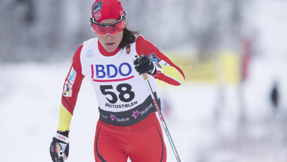 FRAMGANG: Heidi Weng har økt treningsmengdene foran denne sesongen. Og hun kunne konstatere ytterligere framgang etter åpningshelga på Beitostølen. Foto: NTV Scanpix