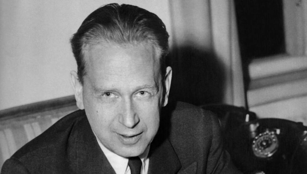 DØDE I FLYSTYRT: FNs andre generalsekretær, Dag Hammarskjöld døde i en flystyrt i Nord-Rhodesia i 1961. Foto: AFP PHOTO