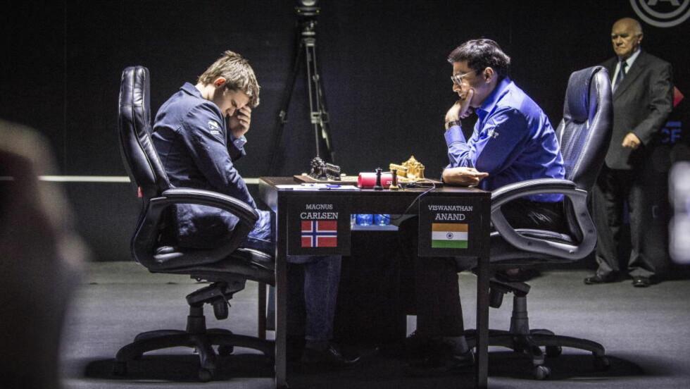 Parti 8. Sotsji, Russland, VM i sjakk. Magnus Carlsen møter Viswanathan Anand i tittelkamp. Foto: Lars Eivind Bones / Dagbladet