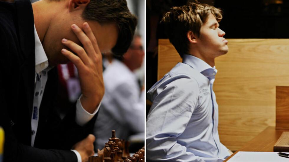 UTSLITT:  Både under sjakk-OL i Tromsø og kandidatturneringen i London i 2013 gikk Carlsen på en smell. Teamet rundt nordmannen har jobbet hardt for å unngå at det samme skjer i år. Foto: NTB Scanpix