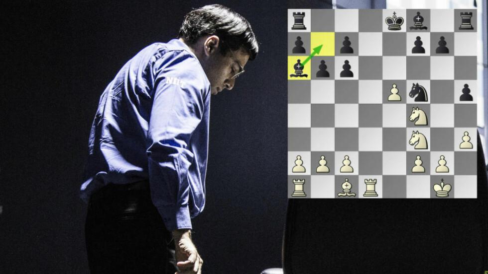HEMMELIGHETSFULL: Vishy Anand spilte nok en gang godt i forsvar, og rodde i land et raskt remis etter trekkgjentakelse. Det 13. trekket hvor han flyttet løperen sin fra a6 til b7, ville han derimot ikke diskutere. Foto: Lars Eivind Bones / Dagbladet