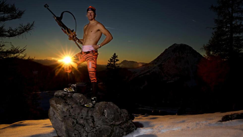 STERKERE ENN FØR: Lars Berger (35) har fokusert mer på overkroppstrening enn tidligere før denne sesongen. Nå tror han karrierens beste langrennsform er på vei. Foto: Geir Olsen / Team Leaseplan Go