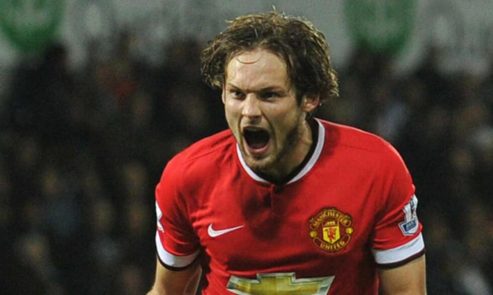 SKADD: Daley Blind kan være uaktuell for Manchester United i nesten et halvt år. Foto: AFP PHOTO / PAUL ELLIS