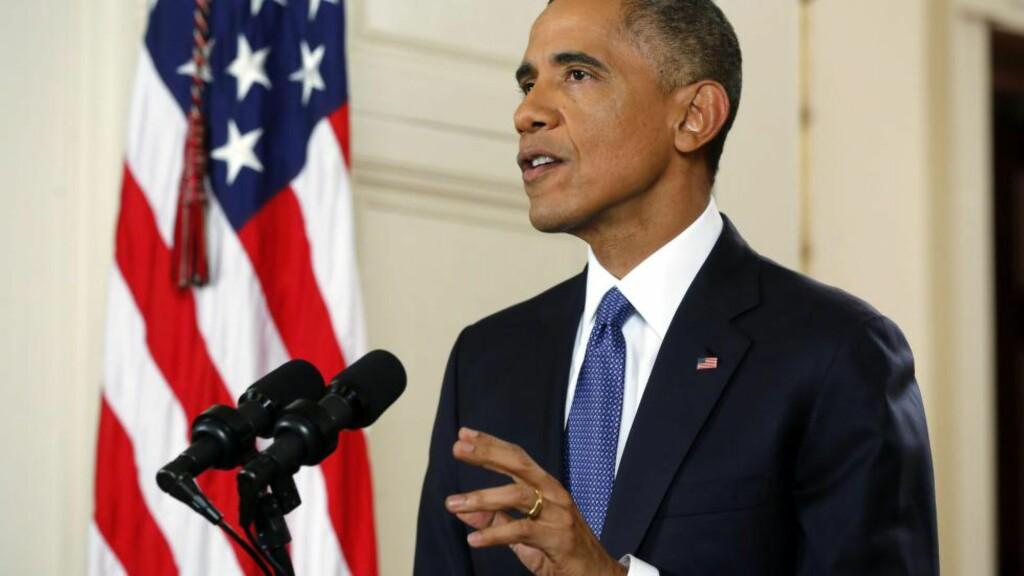 VARSLER ENDRING: USAs president Barack Obama presenterte i natt sine innvandringstiltak. Foto: EPA/JIM BOURG/POOL