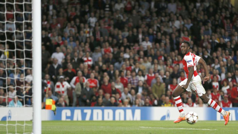 ARSENAL-SUKSESS: Danny Welbeck har fått spissplassen i Arsenal, og har svart med fem scoringer så langt. Foto: REUTERS / Stefan Wermuth / NTB SCANPIX