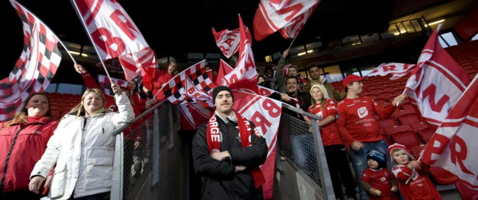 KORT TID:  I noen minutter til kan du stemme fram Brann som klubben i ditt hjerte. FOTO: Tor Erik H. Mathiesen.