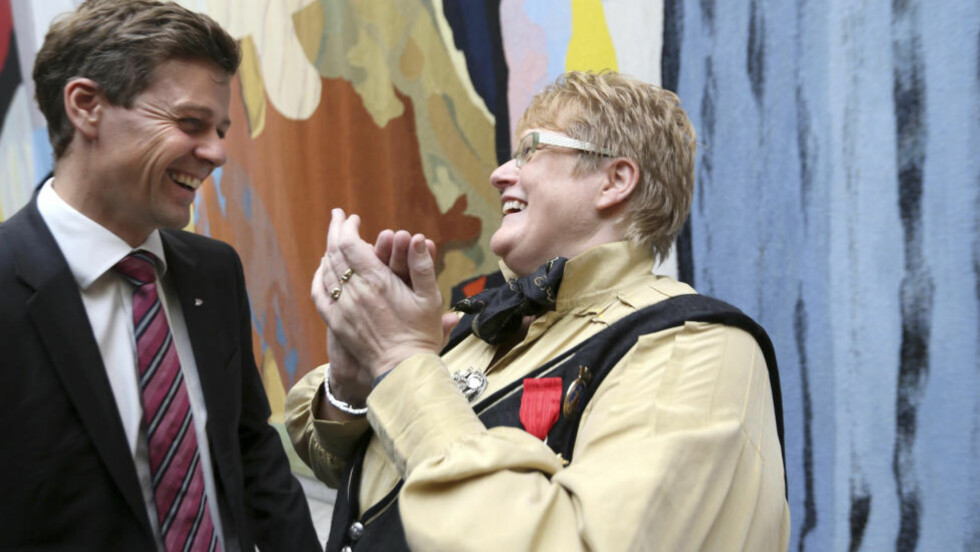 -SEIRET:  Dagsavisen-kommentator Arne Strand sier KrF-leder Knut Arild Hareide og Venstreleder Trine Skei Grande gikk seierende ut av budsjettkampen. Foto: Vidar Ruud / NTB scanpix