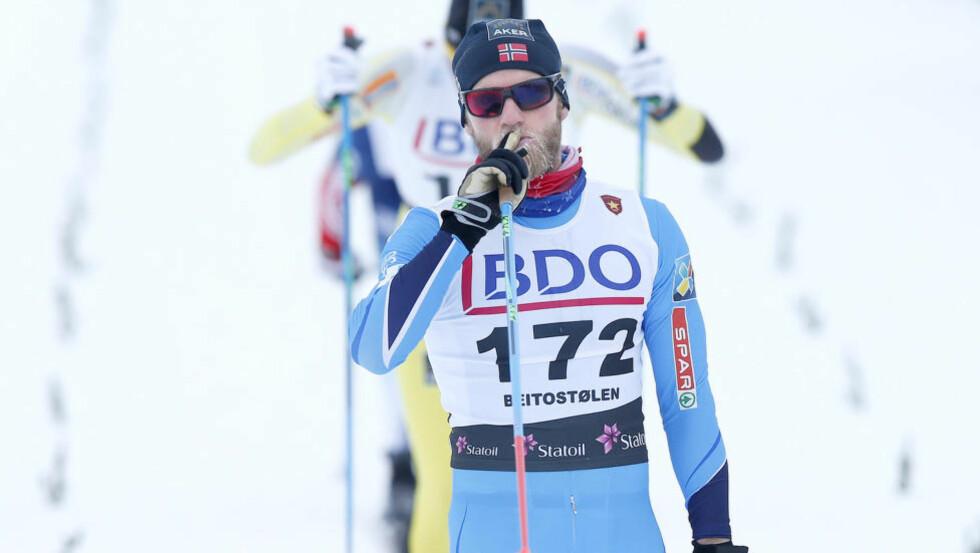 VISTE STYRKE: Martin Johnsrud Sundby vant herrenes 15 kilometer klassisk suverent på Beitostølen i ettermiddag. Foto: Terje Pedersen / NTB scanpix