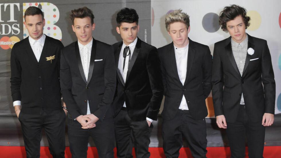 GIGANTISKE: One Direction har solgt 46 millioner eksemplarer av sine tre første album. De sikter videre forbi 50 med «Four». Foto: Scanpix