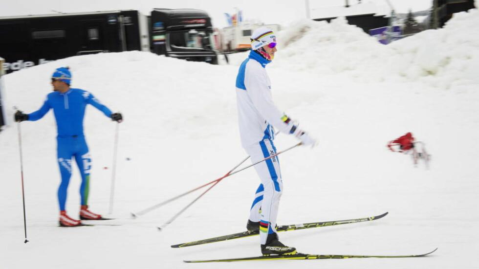GODT FORBEREDT :  Petter Northug framstår godt forberedt til sesongen. I åpningsrennet på Beitostølen hadde han full kontroll, selv om Martin Johnsrud Sundby var ganske mye raskere. FOTO: Benjamin A. Ward / Dagbladet.