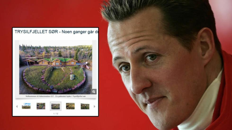 SELGER: Michael Schumchers hytte i Trysil er lagt ut for salg. Foto: Skjermdump Finn.no / NTB Scanpix