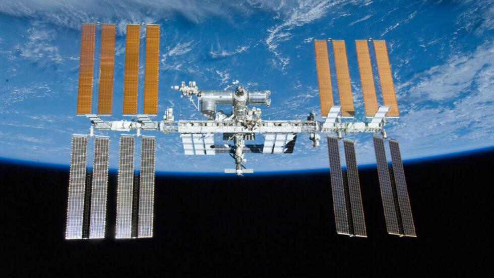FORSØK: Forsøkene med å dyrke planter i rommet skal skje her, på den internasjonale romstasjonen. Foto: NASA