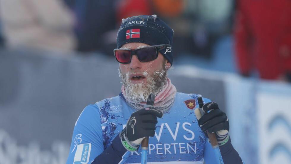 ANDRE PÅ RAD: Martin Johnsrud Sundby tok sin andre seier på Beitostølen denne helga - i svært kaldt vær. Foto: Terje Bendiksby / NTB scanpix