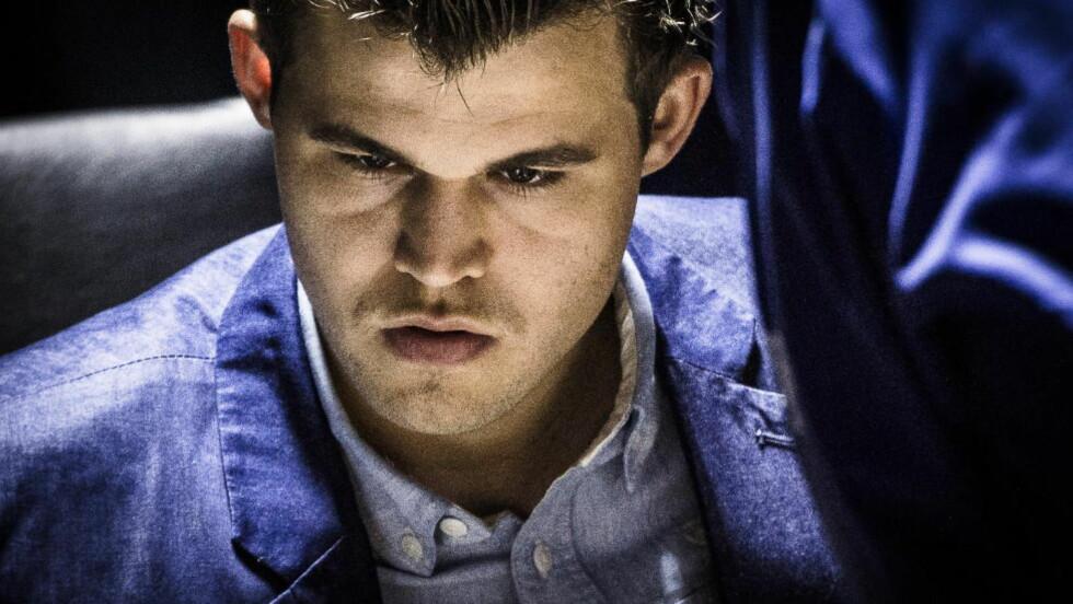 EN DÅRLIGE UTGAVE:  The Guardians sjakkekspert mener Carlsen ikke spiller som i Chennai i fjor. Foto: Lars Eivind Bones / Dagbladet
