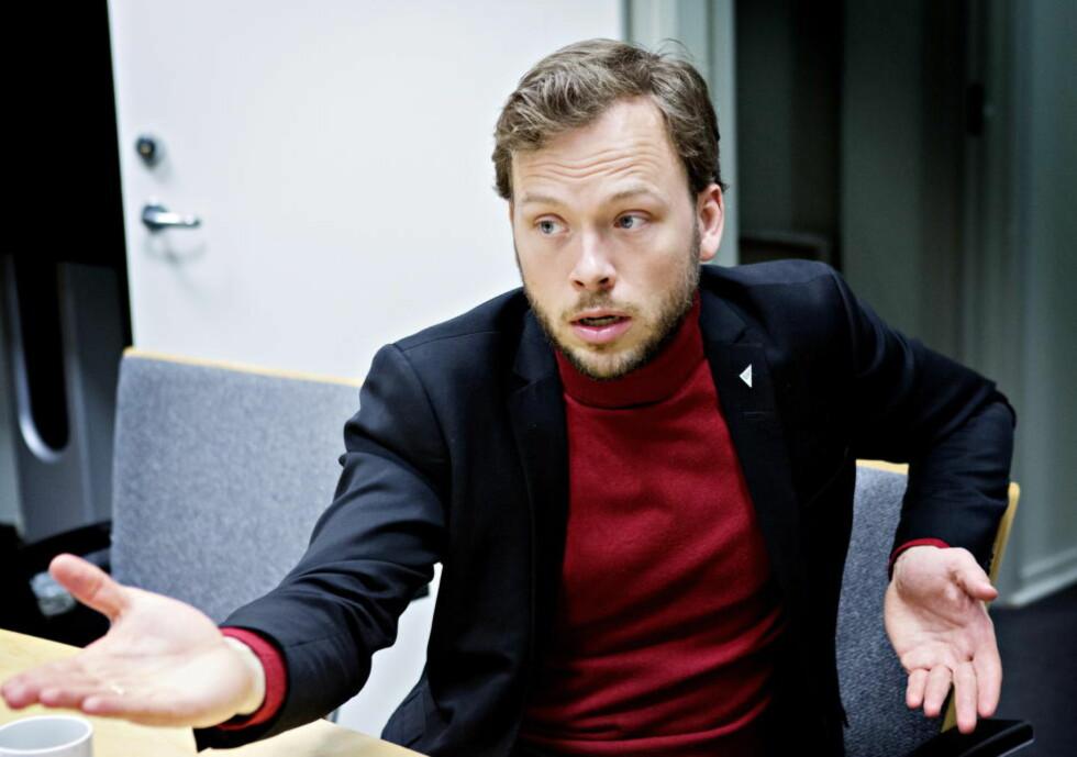 - UØNSKET POLITIKK:  SV-leder Audun Lysbakken mener det er Høyres politikk som er årsaken til deres fall på meningsmålingene. Foto: Nina Hansen / Dagbladet