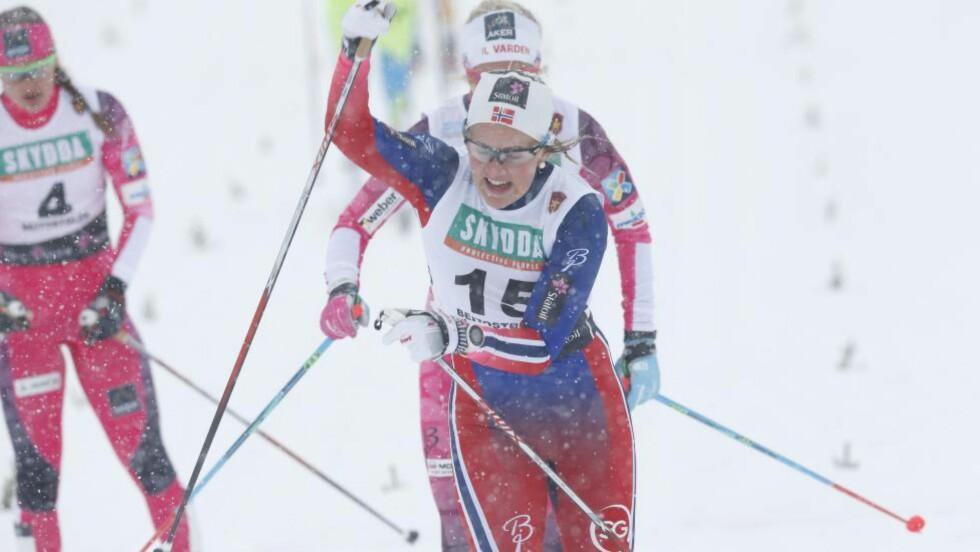 SPURTSTERK:  Barbro Kvåle overrasket de fleste og vant den klassiske sprinten på Beitostølen.          Foto: Terje Bendiksby / NTB scanpix