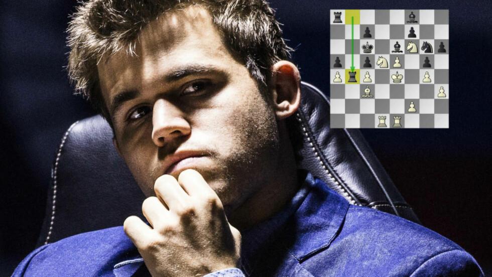 VERDENSMESTER: Det så lenge mørkt ut for Magnus Carlsen i det ellevte partiet, men da Anand gjorde en liten glipp var nordmannen nådeløs. Med seier i dag er det ingen måte Anand kan ta ham igjen, og dermed forsvarer han VM-tittelen. Foto: Lars Eivind Bones / Dagbladet