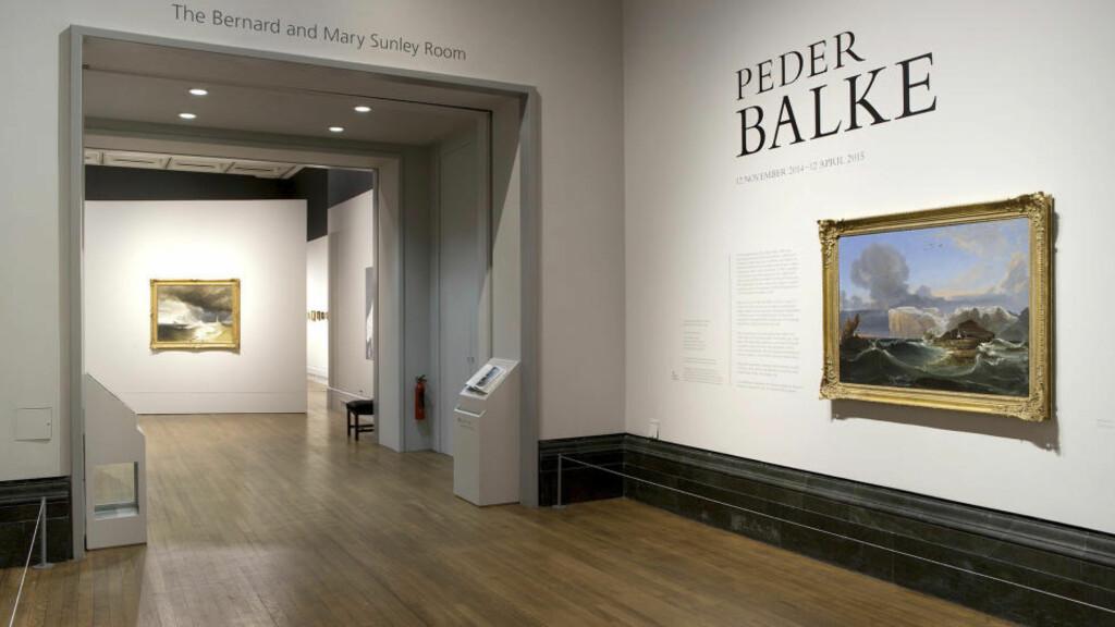 MOT INTERNASJONAL ANERKJENNELSE: «Peder Balke» er den andre store presentasjonen av Balkes maleri i utlandet på seks år, og den tredje solopresentasjon av en skandinavisk kunstner ved National Gallery noensinne, etter Edvard Munch (1992) og danske Christen Købke (2010). Foto: The National Gallery Photographic Department