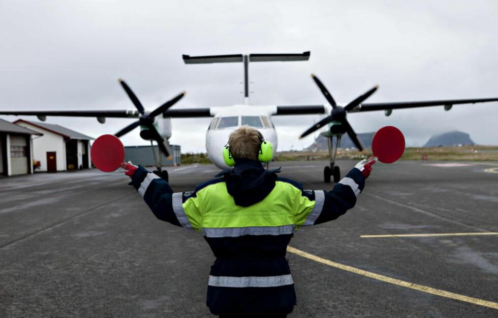 BRÅSTOPP:  I alt 680 ansatte i SAS og Widerøe går ut i streik ved midnatt hvis ikke partene kommer til enighet. Widerøes flytrafikk nord for Trondheim kan bli kraftig lammet av streiken. Foto: Elin Hansson