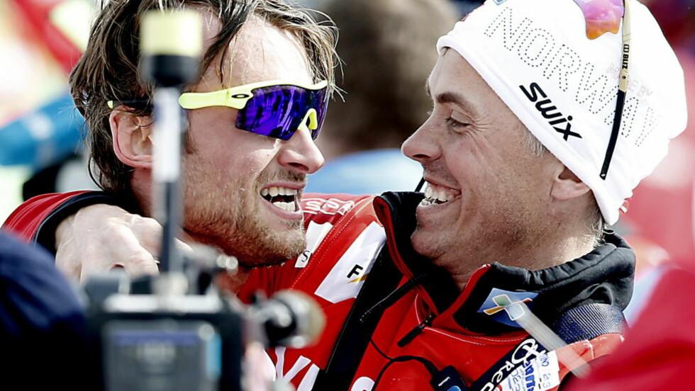 <strong>SJEFEN:</strong> Fra og med i dag er Vidar Løfshus igjen sjefen over Petter Northug - som nå er landslagsløper. Foto: Bjørn Langsem / DAGBLADET.