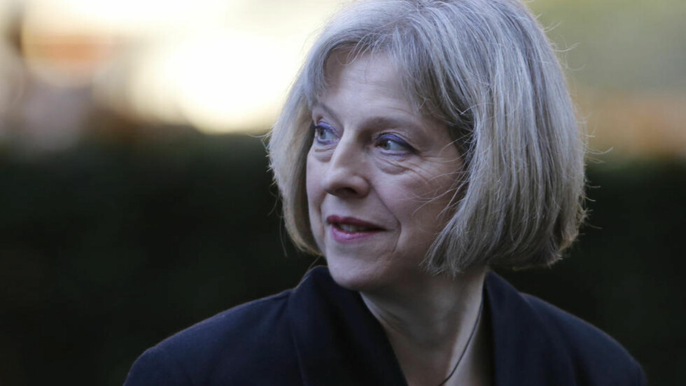 ALVORLIG: Storbritannias innenriksminister Theresa May sier at terrortrusselen i Storbritannia er større enn på lenge. Foto: Suzanne Plunkett / Reuters / NTB scanpix