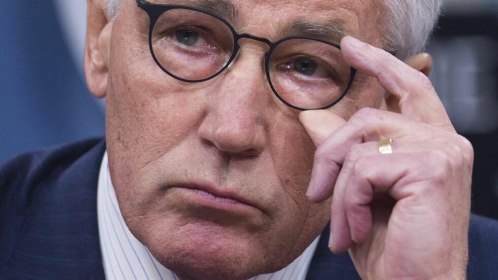 GÅR AV: USAs forsvarsminister Chuck Hagel. Foto: AFP / NTB Scanpix