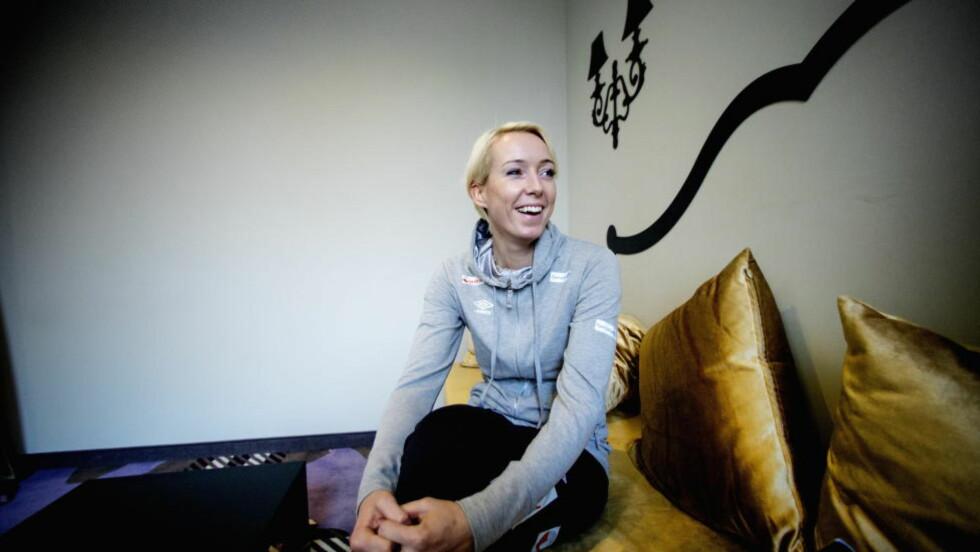 GRAVID: Katrine Lunde (34) fikk lønna mer enn halvert da hun ble gravid. Nå vil hun ha lønnsgaranti for å fortsette i klubben. Her fra VM i fjor. Foto: Bjørn Langsem / DAGBLADET