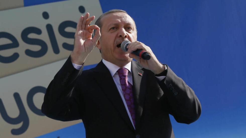 SJOKKERER: Tyrkias president Recep Tayyip Erdogan. Foto: REUTERS/Umit Bektas/NTB Scanpix