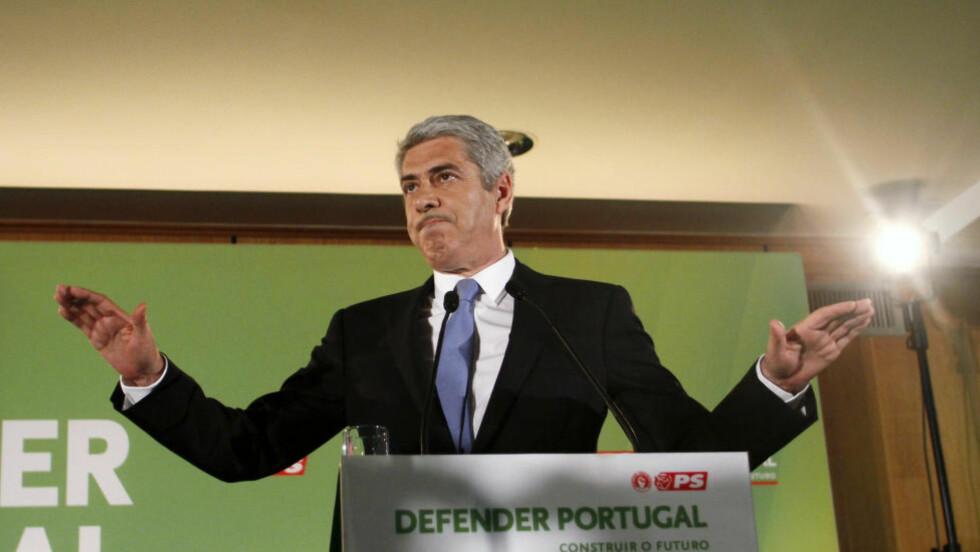 SIKTET: Portugals tidligere statsminister, José Sócrates, under valgkampen i 2011. Han er nå arrestert sammen med tre andre, opplyser Riksadvokatens kontor. Foto: REUTERS / Scanpix / Hugo Correia/Files