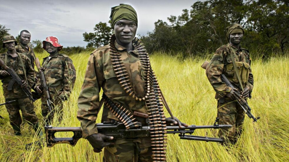 SPYDSPISSER: Rundt 2500 ugandiske soldater er spydspissen i jakten på Joseph Kony i krigsherjede Den sentrafrikanske republikk. De får hjelp av rundt 150 amerikanere som bidrar med taktikk, logistikk, flystøtte og etterretning. Foto: John Terje Pedersen
