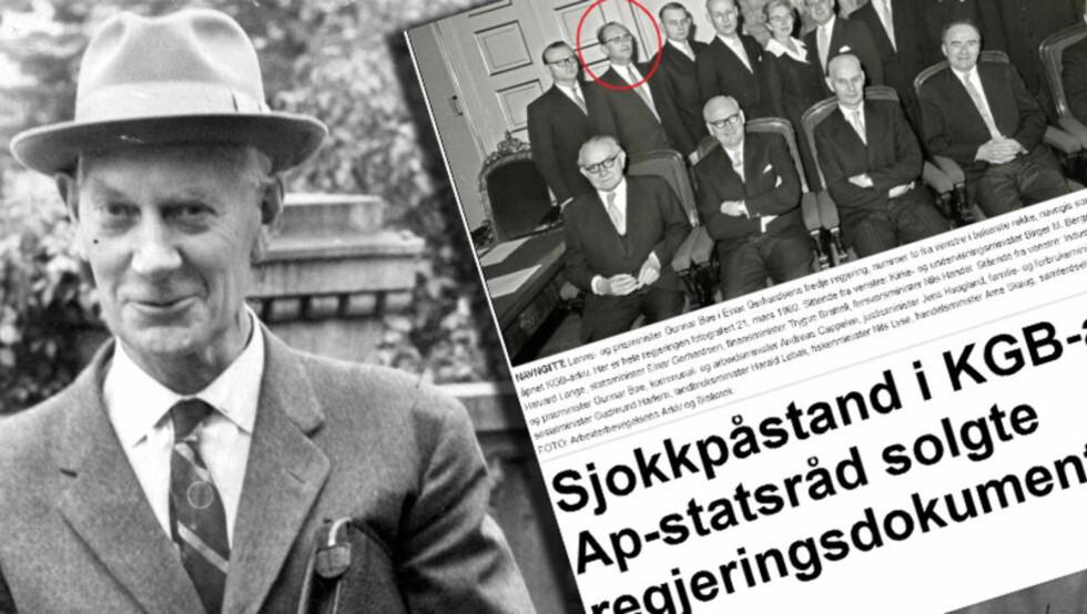 - BØR GRANSKES: - Man bør granske hva Gerhardsen visste om Gunnar Bøes kontakt med KGB, og hvordan han håndterte spionanklagene, sier Anders C. Sjaastad til Dagbladet. Foto: DAGBLADET