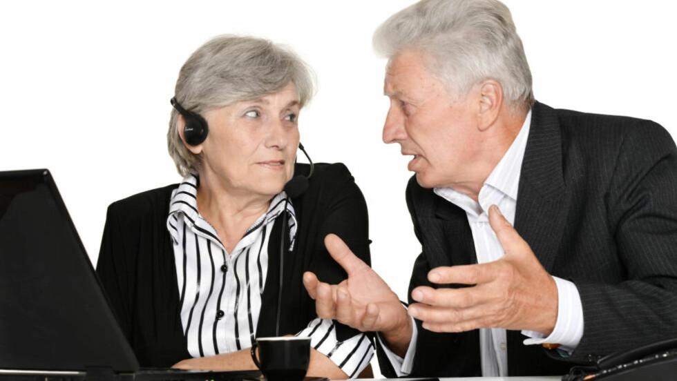 NYE ALDERSGRENSER: Arbeidsminister Robert Eriksson ønsker å heve aldergrensa i arbeidslivet til 75 år. Han møter kritikk fra blant annet Pensjonistforbundet. Illustrasjonsfoto: Colourbox