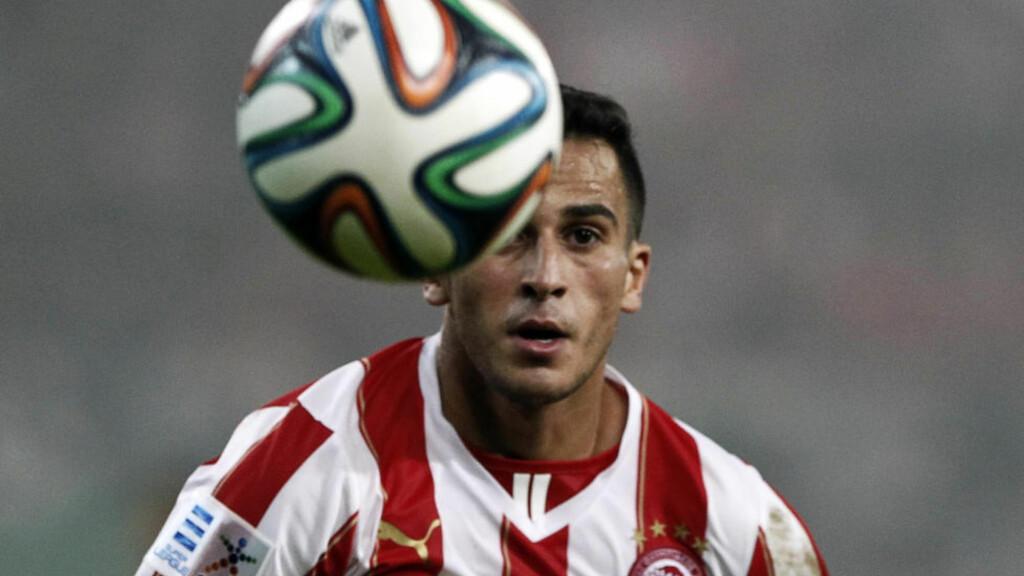 TØFF BORTEKAMP:  Atlético borte venter for Olympiakos og Omar Elabdellaoui i kveld. Foto: NTB Scanpix /REUTERS/Alkis Konstantinidis