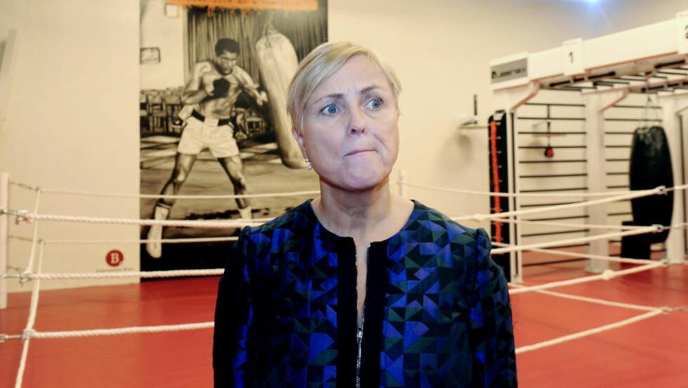 SJETTEPLASS: Kulturministeren er på sjetteplass i Dagbladets kåring over de mektigste i kultur-Norge. Det skuffer henne ikke.  Foto: Terje Pedersen / NTB scanpix