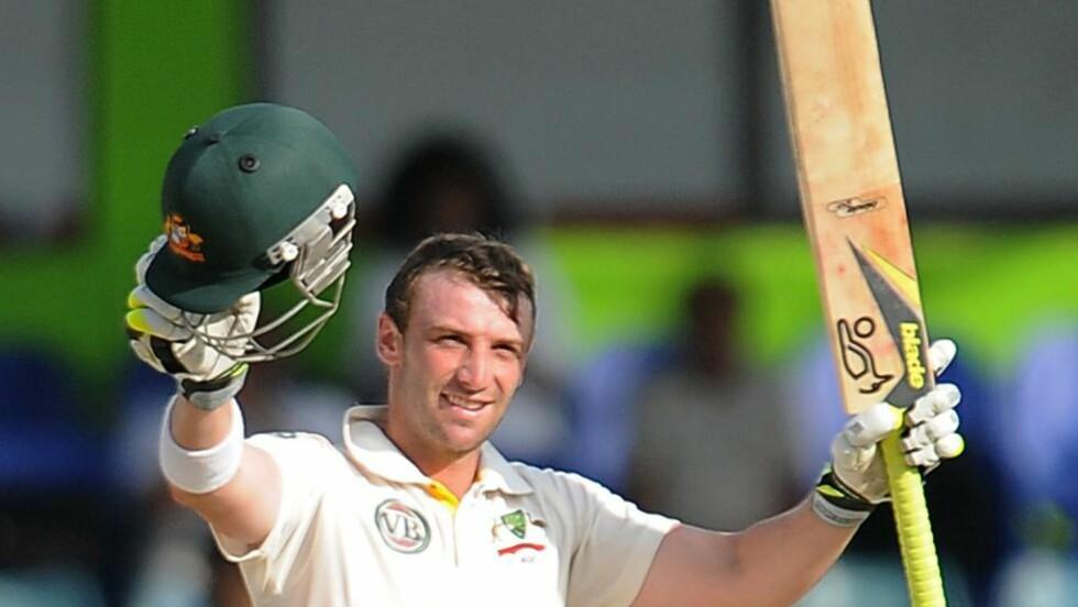 DØDE:  Phillip Hughes døde på sykehuset to dager etter at han fikk en ball i hodet under en cricketkamp. Foto:  AFP PHOTO / FILES / Lakruwan WANNIARACHCHI