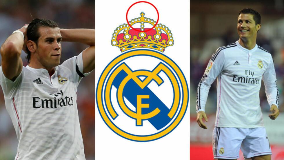 BORT MED DEN: Real Madrid har vedtatt å fjerne korset fra logoen under markedsføring i Emiratene for å tekkes tilhengere av muslimsk tro. Foto: NTB Scanpix