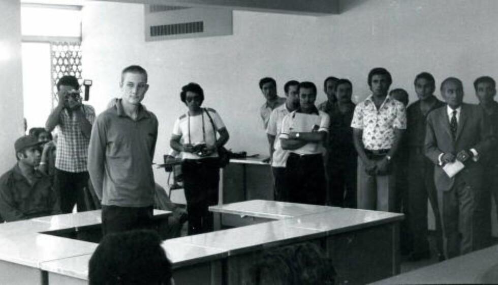Dømt: Gule under rettssaken mot ham i Libanon i juli 1977. Da han kom hjem til Norge fikk han en påtaleunlatelse. Foto: Anders Hoff