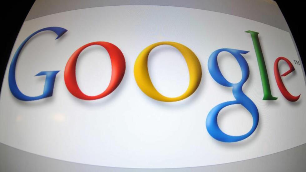 SUPERSELSKAP: Google har vokst fra kun å være en søkemotor, til å tilby en rekke tjenester. Selskapet omsatte for 360 milliarder kroner i 2013. Foto: AFP PHOTO/KAREN BLEIER/FILES