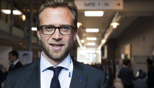 VISER TIL VEDTAK: Astrup mener det er åpenbart hva Høyre vil med Statkraft: Det står i vedtaket fra landsmøtet forrige helg. Foto: Berit Roald / NTB scanpix