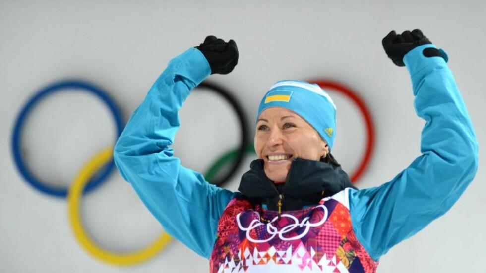 SESONGEN ØDELAGT: Ukrainske Vita Semerenko må kansellere hele skiskyttersesongen - før den egentlig har startet. Foto: AFP PHOTO / KIRILL KUDRYAVTSEV