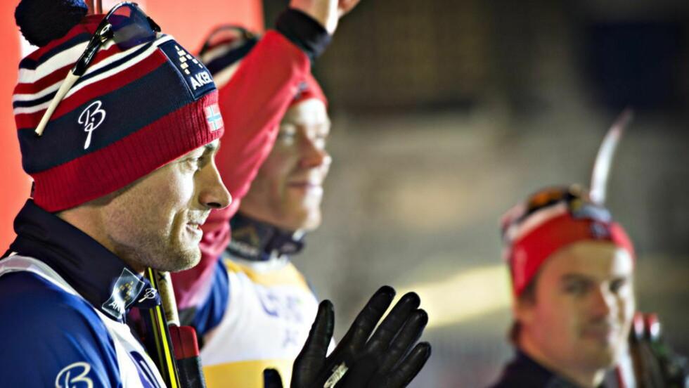 NORSK DOMINANS:  Petter Northug tok andreplassen  sesongens første sprintrenn i verdenscupen her i Kuusamo i dag.  Eirik Brandsdal vant. Foto Hans Arne Vedlog  / Dagbladet