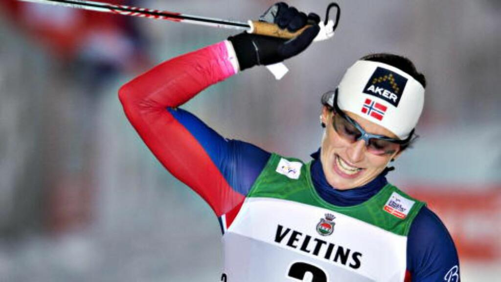 PÅ SKJEMA: Marit Bjørgen vant sesongstarten i Kuusamo. Foto Hans Arne Vedlog