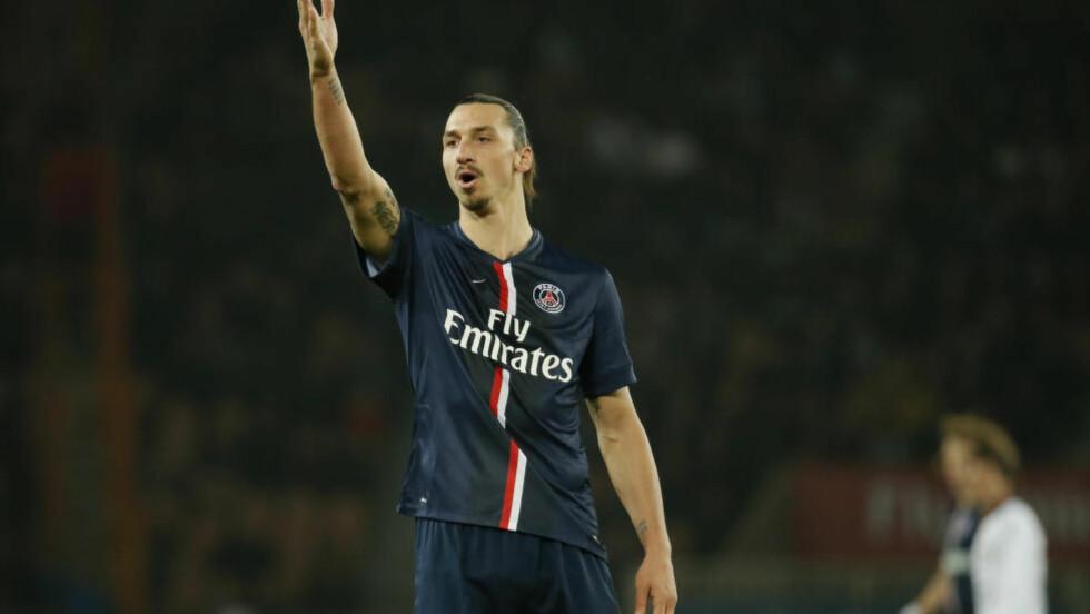 MATCHVINNER:  Zlatan Ibrahimovic avgjorde for PSG. Foto: REUTERS/Gonzalo Fuentes/NTB Scanpix.