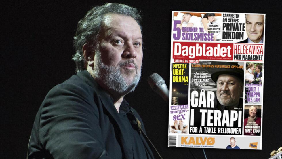 IKKE LIKE POPULÆR OVERALT: En vestlandsk konsertarrangør skal ha kansellert en konsert med Bjørn Eidsvåg på grunn av intervjuer som det han ga Dagbladet 18. oktober. Foto: NTB Scanpix