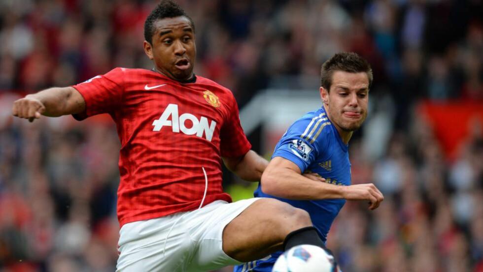 LITT FEIT. Brasilianske Anderson har fått beskjed om å slanke seg av Manchester United-sjef Louis van Gaal i følge engelske medier. Foto: AFP.