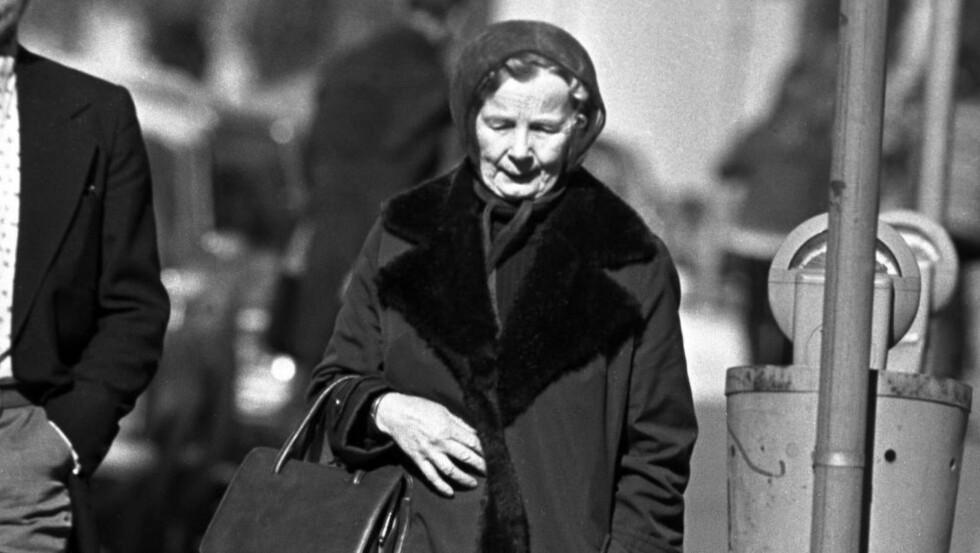 TILSTO AT HUN VAR SPION: Inntil Arne Treholt ble arrestert i 1984 var Gunvor Galtung Haavik Norges mest kjente spion. I 1977 ble hun anklaget og tiltalt for å være spion for Sovjetunionen, men døde før rettssaken. Før hun døde tilsto Haavik at hun jobbet for KGB. Foto: JAN. A. MARTINSEN/AFTENPOSTEN/NTB SCANPIX